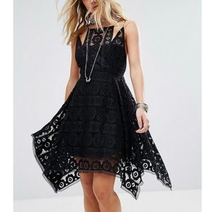 NWT Free People Lace Fit and Flare Mini Dress